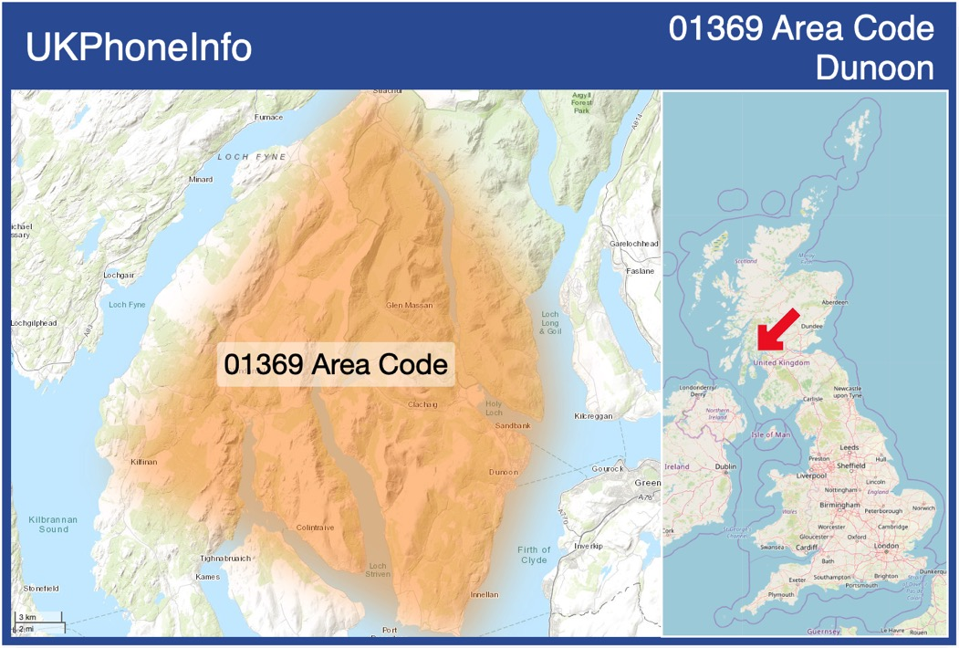 Map of the 01369 area code