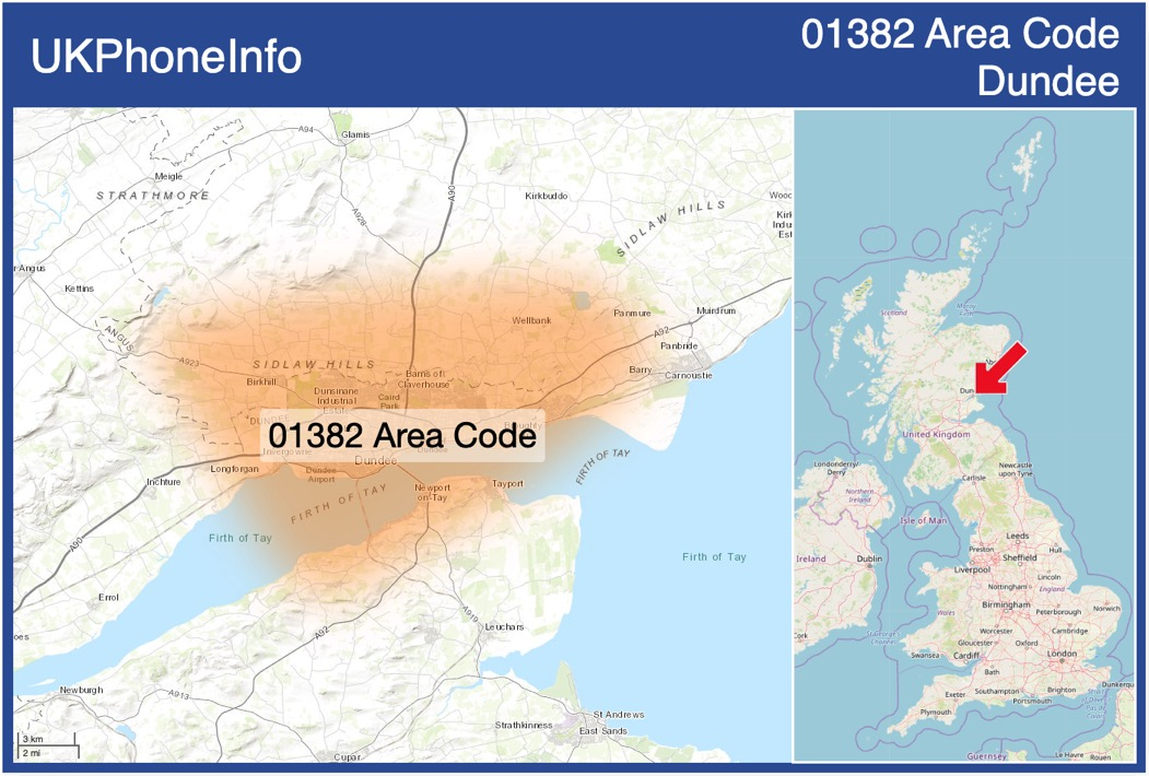 Map of the 01382 area code