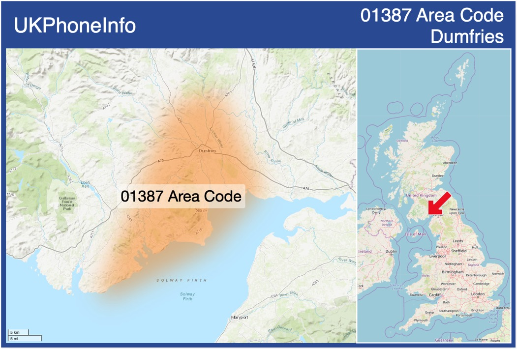 Map of the 01387 area code