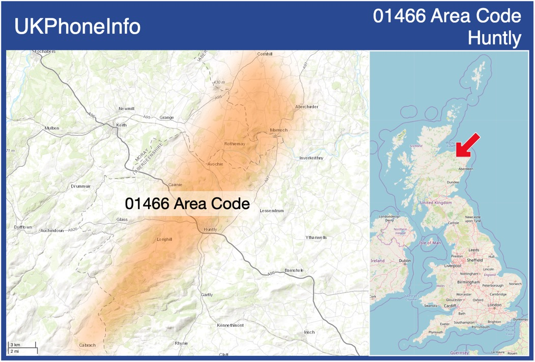 Map of the 01466 area code