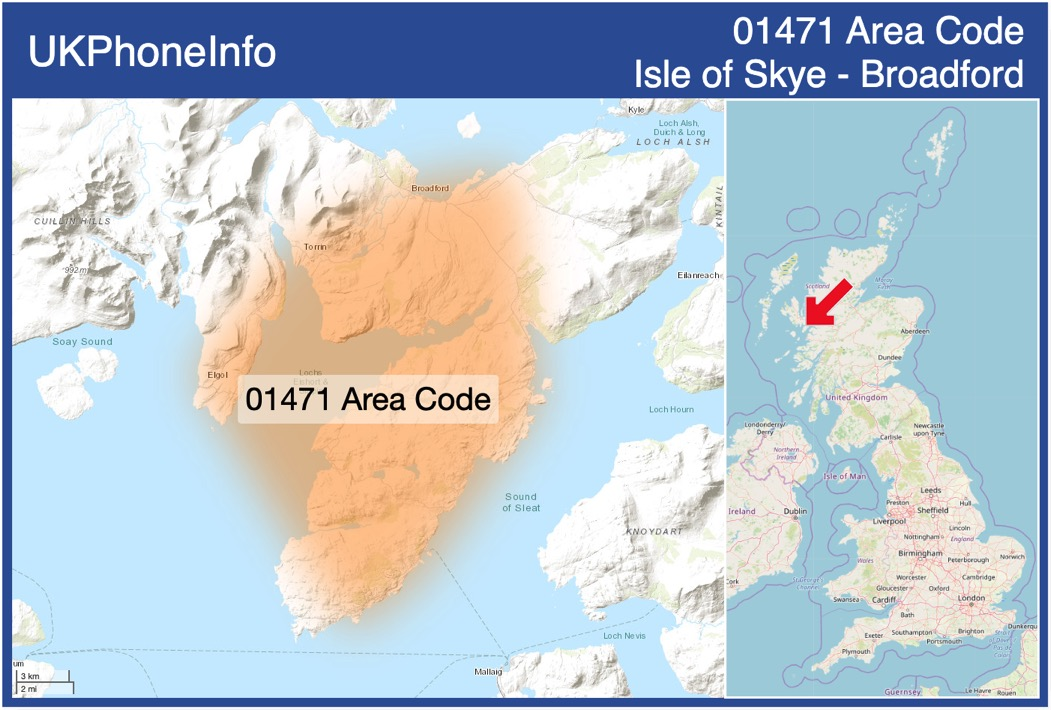 Map of the 01471 area code