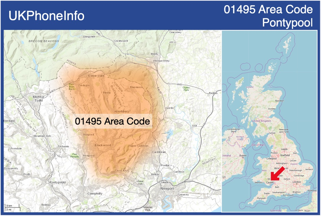Map of the 01495 area code