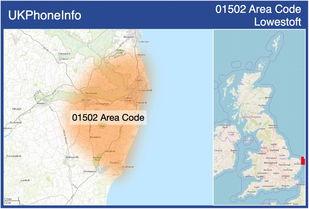 Map of the 01502 area code