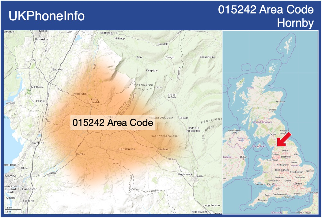 Map of the 015242 area code