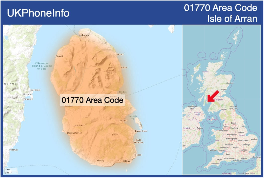 Map of the 01770 area code